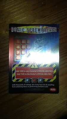 Dr who battles in time Test Card 78 Sonic ScrewDriver