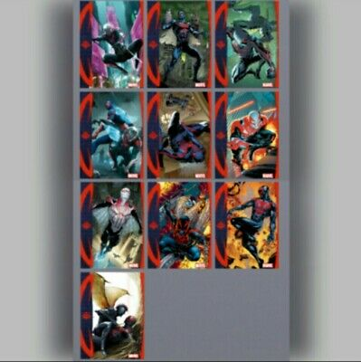 TOPPS MARVEL COLLECT TOPPS SHOWCASE SPIDER-MAN 2099 COMPLETE SET 10 CARDS 2000cc