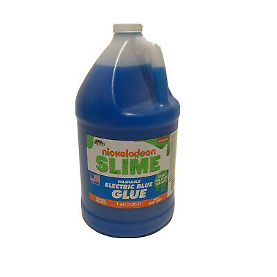 Nickelodeon Washable GLUE. Electric Blue. Slime Making. Non-toxic. 1 GL. New!