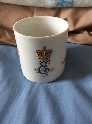 King Edward VII 1902 Coronation Lithophane Presentation Mug
