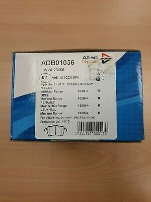 Ford Focus C-Max 1.8 TDCi Genuine Allied Nippon Rear Brake Pads Set