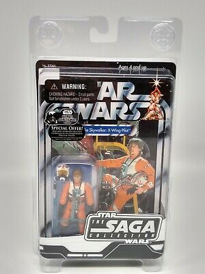 Star Wars The Saga Collection Luke Skywalker X-Wing Pilot with Case