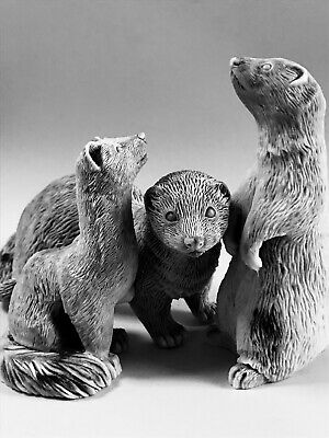 Ferrets collection figurines Gifts Souvenirs marble chips high quality