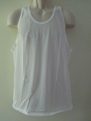 Vintage Nwot Usa Jockey Sheer Nylon Tricot A Shirt Tank Top Lg 42-44 White Usa