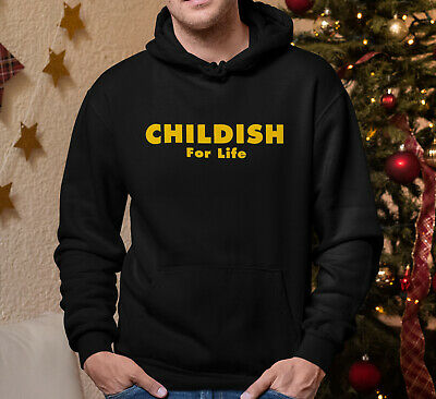 Childish For Life Childrens Hoodie Sweater Pullover Black Yellow