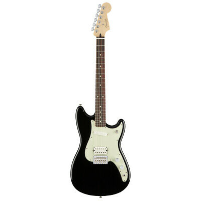 Fender Duo Sonic HS Electric Guitar - Pau Ferro Fingerboard - Black NEW