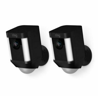 Ring Spotlight Cam Outdoor Wireless Security 1080p (2-PACK) (8X81X7-BEN0)
