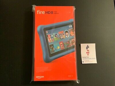 Amazon Fire HD Kids Edition Tablet 8th Gen 8 inch HD Display 32 GB Blue All-new