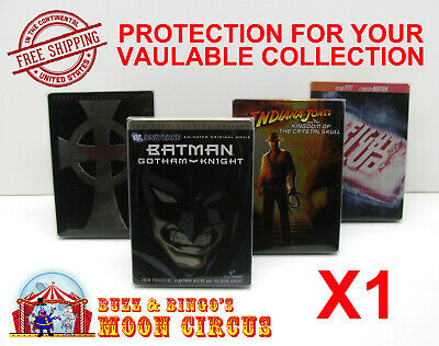 1x DVD (NOT BLU-RAY/UHD) STEELBOOK MOVIE -CLEAR PROTECTIVE BOX PROTECTOR