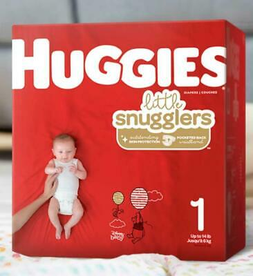 Huggies Little Snugglers Baby Diapers Size 1 (Up to 14 lb.) Jumbo Pack, 20 Count