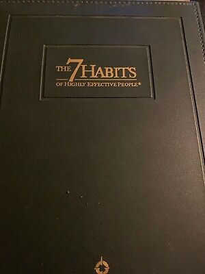 The Seven Habits of Highly Effective People Covey Green Leather Binder