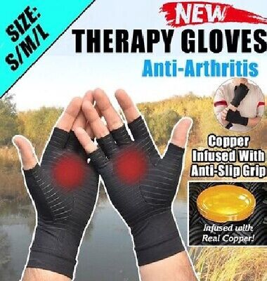 Copper Gloves Pain Relief Compression Hands Wrist Brace Gloves for Carpal Tunnel