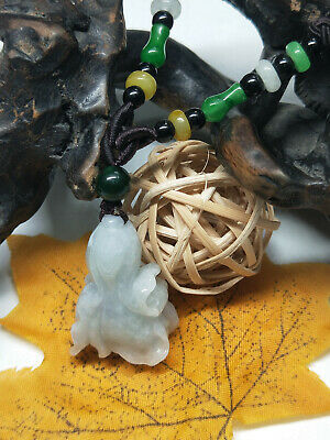Chinese Hand-carved aristocratic wearing Jadeite jade pendant Chinese cabbage
