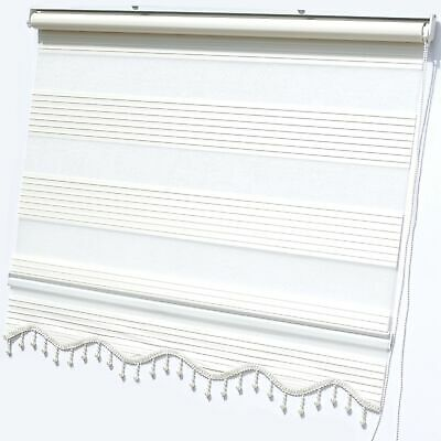 Doppelrollos Duo Roller Blind Clip-Fit Beige Curtains Zebra Perde