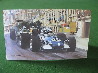 Monaco Grand Prix Xmas Card (1969)  Michael Turner Annual Christmas Card