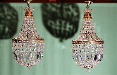 Edwardian bag chandeliers