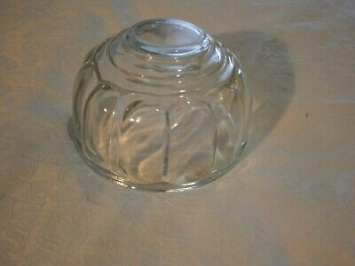 Vintage Clear Round Jelly Mould - 12.5 X 7.5 Cms - Great Condition