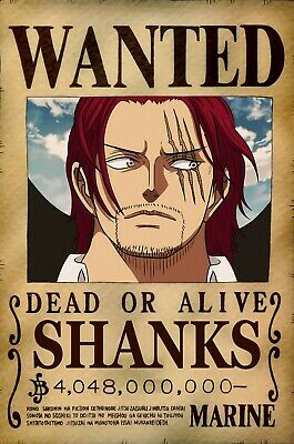 One Piece WANTED Poster (A3: 27 x 41 cm)  – SHANKS