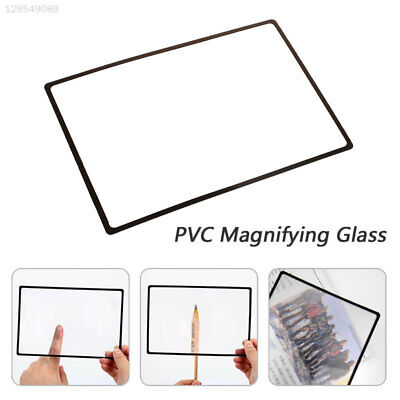 B833 PVC Magnifying Glass Glass Lens Magnifying Lens Office Magnifier Newspaper