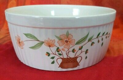 Vintage Retro Countryside Collection Stoneware Large Souffle Baking Round dish