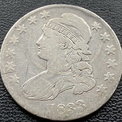 1833 Capped Bust Half Dollar  50c Circulated #22140