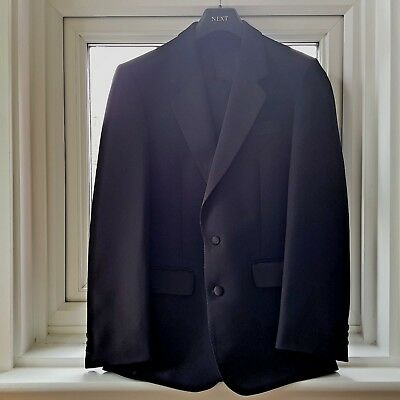 "Greenwoods Single Breasted Dinner Jacket Tuxedo 36"" Jacket 30"" S Trousers VGC"