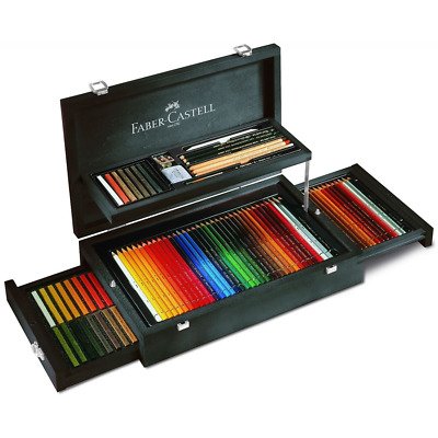 Faber Castell Art & Graphic Artists 126 Collection Mahogany Vaneer Wooden Case