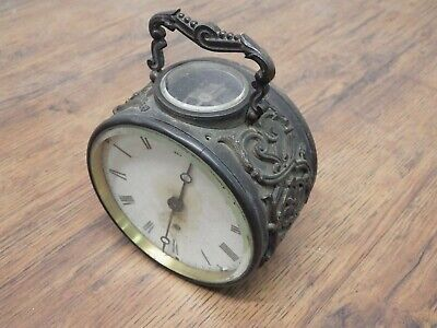 Antique Round Striking 8 Day Carriage Clock Visible Escapement Probably French