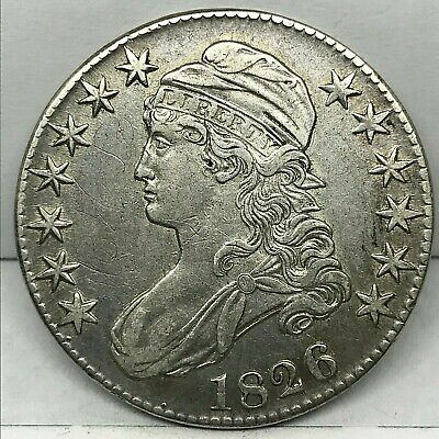 1826 Capped Bust Half Dollar 50c ~ Very High Grade Early Coin.