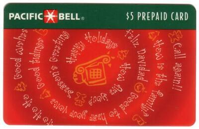 $5, $10, $20. Holiday Greetings Spiral: (1994 Christmas) 3 SPECIMENS Phone Card