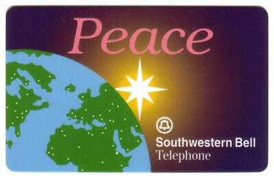 $25. 'Peace' 1995 Star Above The Earth With Greeting Card Phone Card