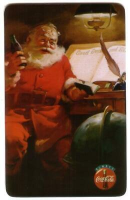 10m 'No Logo' Coke Cards With Santa: Set of 3 Different USED Phone Card