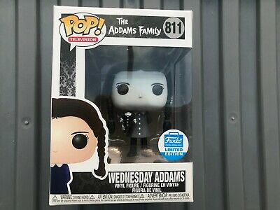 Funko Pop The Addams Family Wednesday Adams Funko shop exclusive black and white