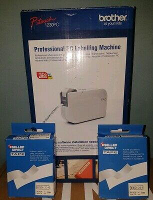 Brother Professional PC Labelling Machine P-Touch 1230PC *UNTESTED*
