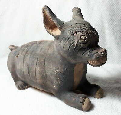 Pre-Columbian Chancay (1000-1470 AD) Ceramic of a Hairless Dog