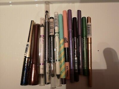 Eyeliner, Pencil, Set, Eyebrow Powder, Cosmetics, Grün, Lila, Metallic, Glitter