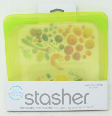 Stasher Reusable 15 oz. Silicone Food Storage Bag in Lime