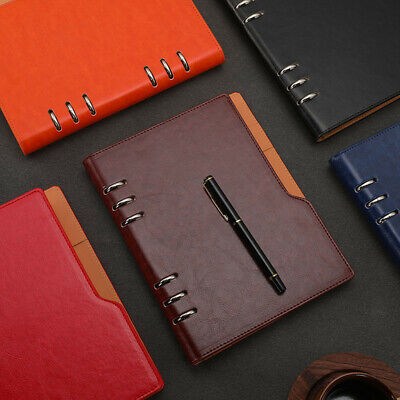 A5 PU Leather Vintage Journal Notebook Lined Paper Diary Planner Refillable