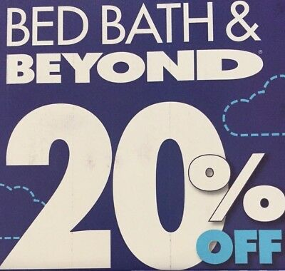 1 - Bed Bath Beyond 20% off 1 Item *** Online Coupon *** Exp 1/31/20