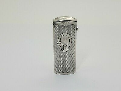 SUPERB ANTIQUE SOLID SILVER 800 CONTINENTAL VESTA CASE MATCH SAFE HOLDER C1890's