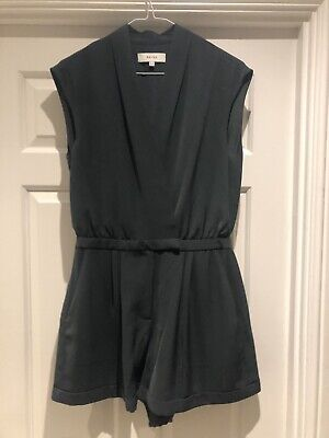 Reiss Playsuit, Green Size 10
