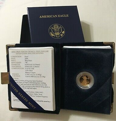2006 - 1/10 - $5 - American Gold Eagle Proof from The Unied Sates Mint