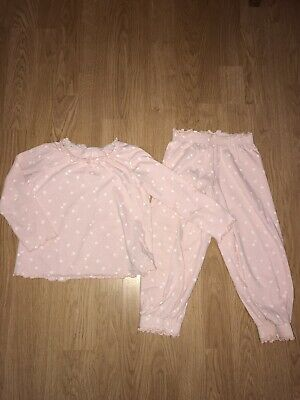 Girls M&S Pink Pyjamas 3-4 Years