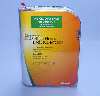 Microsoft Office Home and Student 2007 GENUINE sealed NEW 79G-00007 Win 7 8 10