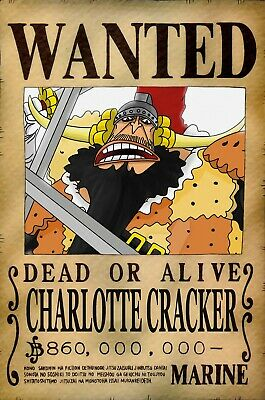 One Piece WANTED Poster (A3: 27 x 41 cm)  – CHARLOTTE CRACKER