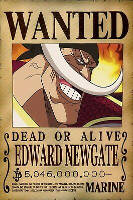 One Piece WANTED Poster (A3: 27 x 41 cm)  – EDWARD NEWGATE