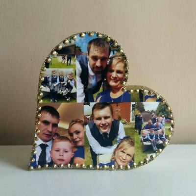 Personalised Photo Collage 5 inch Heart, Birthday, Mothers Day Baby,Wedding Gift