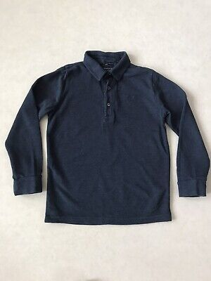 Boys Next Navy Long Sleeved Polo Top 8 Years