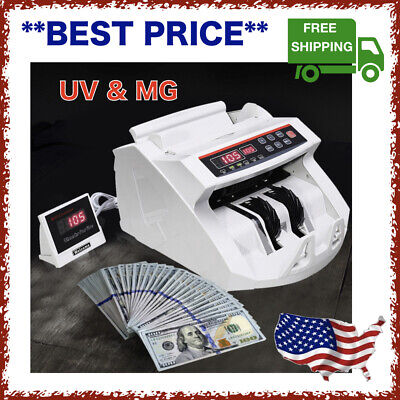 Money Cash Counting Machine Bill Counter Counterfeit Currency Detector UV & MG