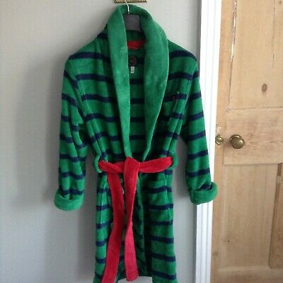 joules boys soft velour dressing gown age 9-10